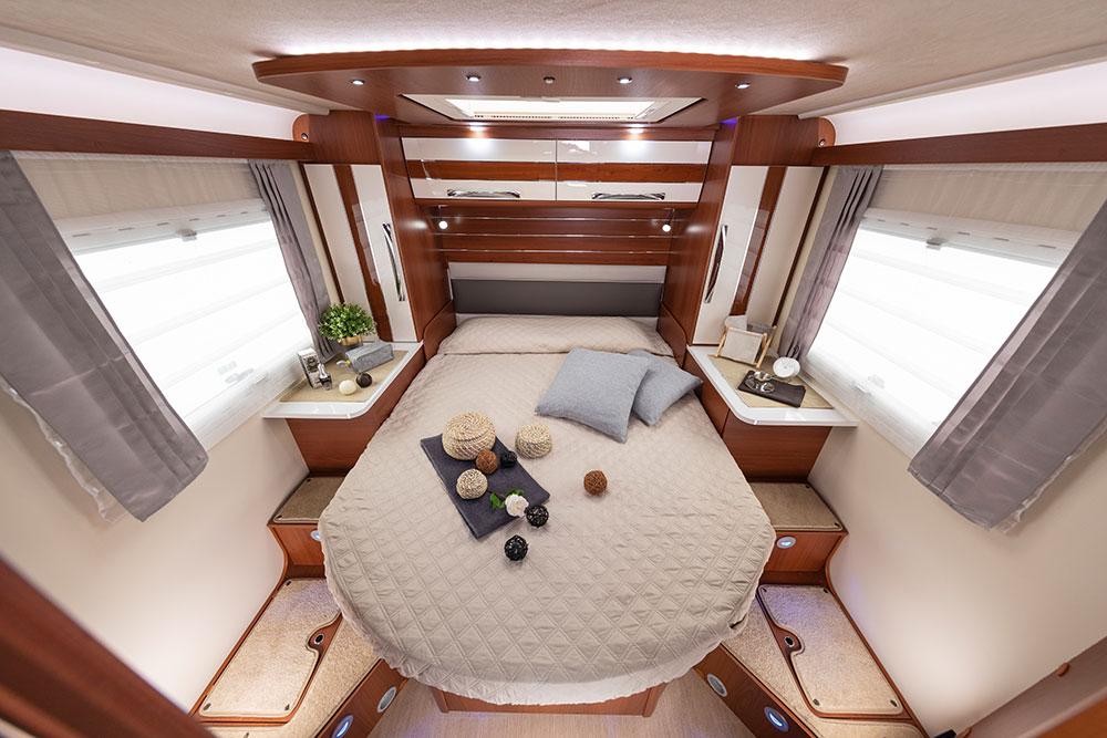 Mobilvetta Wohnmobile Innenausstattung Schlafzimmer